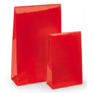 Lacquer Paper Pouch with Adhesive Seal (Red)