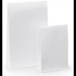 Lackpapier-Beutel mit Haftklebeverschluss (Weiss)