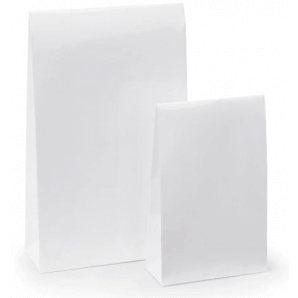 Lacquer Paper Pouch with Adhesive Seal (White)