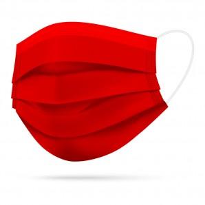 TIMASK Einweg-Mundschutz Rot (20 Stk)