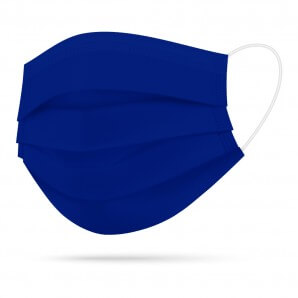 TIMASK Einweg-Mundschutz Kobaltblau (20 Stk)