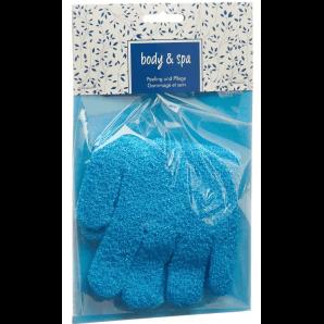 HERBA Body & Spa Peelinghandschuhe türkis (1 Paar)