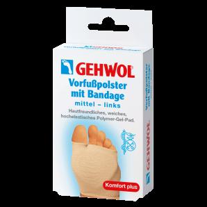 GEHWOL Vorfusspolster mit Bandage mittel links (1 Stk)