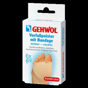 GEHWOL Vorfusspolster mit Bandage mittel rechts (1 Stk)