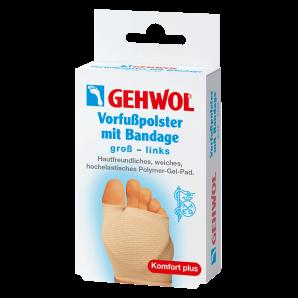 GEHWOL Vorfusspolster mit Bandage gross links (1 Stk)