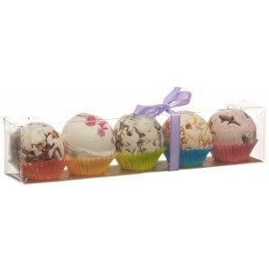 Aromalife gift box with 5 bath pralines