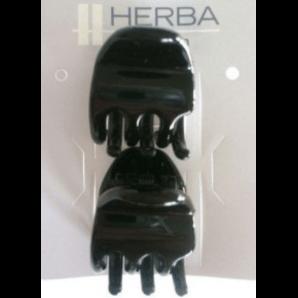 HERBA Haarklammern 2.2cm schwarz (2 Stk)