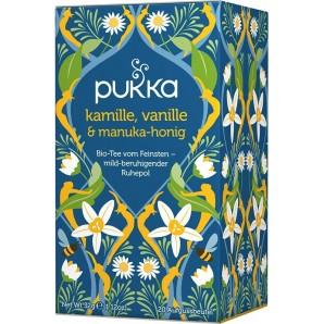 Pukka thé à la camomille, à la vanille et au miel de Manuka biologique (20 sachets)
