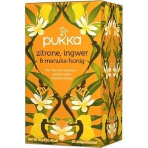 Pukka thé au citron, gingembre et miel de manuka biologique (20 sachets)