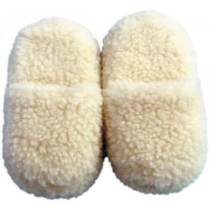 Himmelgrün Schafwoll Pantoffeln 44/45, 1 Paar