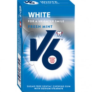 V6 White Kaugummi Freshmint (Box)