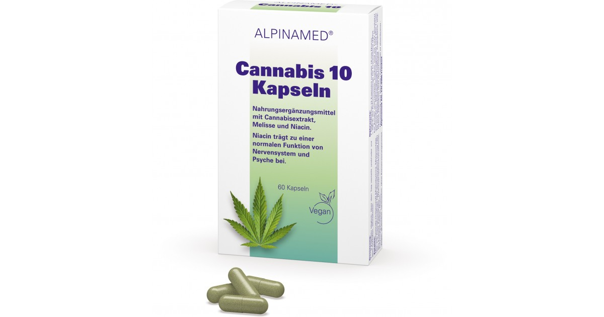 Alpinamed Cannabis 10 capsules (60 pcs)