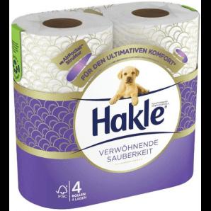 Hakle Verwöhnende Sauberkeit Toilettenpapier (4 Stk)