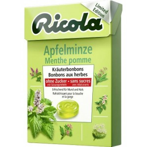 Ricola Apple Mint Candies without Sugar with Stevia Box (50g)