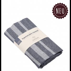 Aromalife Hammamtuch Vibe navey medium grey (1 Stk)