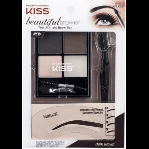 Kiss Beautiful Brow Kit Dark Brown (1 Stk)