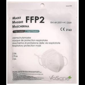 Vasano Maske FFP2 weiss versiegelt (2 Stk)