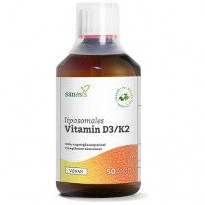 sanasis Vitamin D3/K2 liposomal Flasche (250ml)