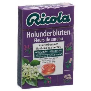 Ricola Holunderblüten Bonbons ohne Zucker mit Stevia (50g)