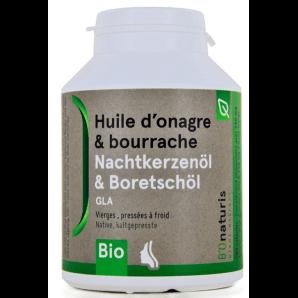 BIOnaturis Nachtkerzenöl&Borretschöl Kapseln 500mg (180 Stk)