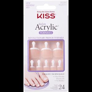 Kiss Salon Acrylic French Toenails Limitless (1 Stk)