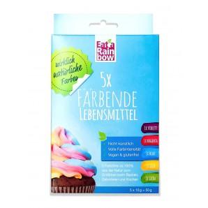 Mangez un mélange de couleurs arc-en-ciel bleu/ jaune/ rose/ violet (4x10g)