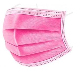 MKW protezione medica monouso della bocca rosa tipo IIR (50 pz)