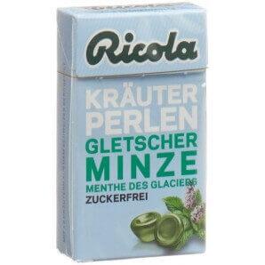 Ricola Kräuter Perlen Gletscherminze ohne Zucker (25 g)
