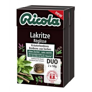 Ricola liquorice sweets with stevia duo (2x50g)