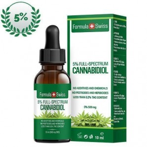 Formula Swiss 5% Full Spectrum CBD Oil in Olive Oil Pipette (10ml)