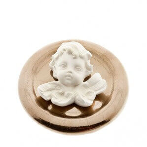 Aromalife Fragrance Stone Set Angel & Saucer Gold