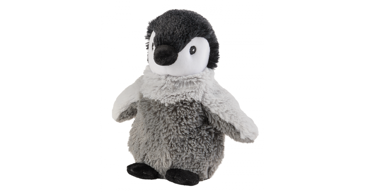 WARMIES Minis warmth soft toy baby penguin lavender