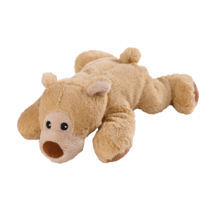 WARMIES Minis heat-stuffed toy bear lying