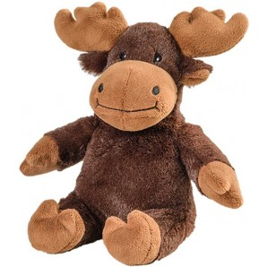 WARMIES Minis heat-soft toy moose dark brown