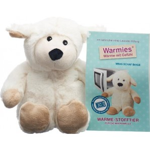 WARMIES Minis warmth soft toy sheep beige