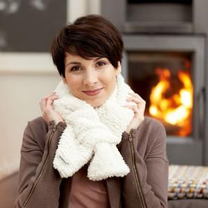 WARMIES scarf beige herbal filling
