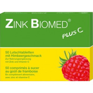Zinc Biomed Plus C Raspberry Lozenges (50 pcs)