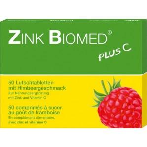 Zink Biomed Plus C Himbeer Lutschtabletten (50 Stk)