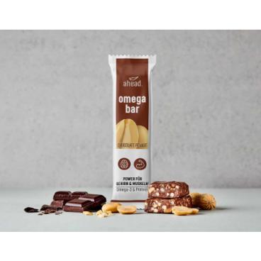 ahead. omega bar Chocolate Peanut 50g (12 pcs)