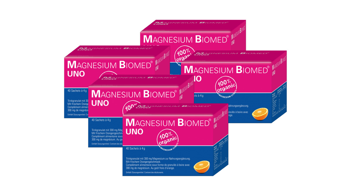 5x Magnesium Biomed Uno (40 Stk)