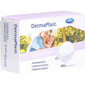 DermaPlast gauze compresses 4cm x 6cm (80 pieces)