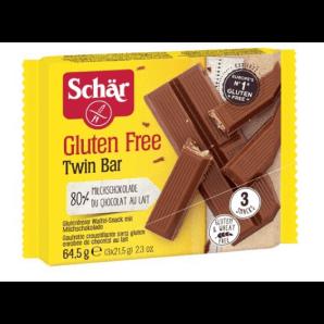 SCHÄR Twin Bar Snack mit Schoko glutenfrei (3 x 21.5g)