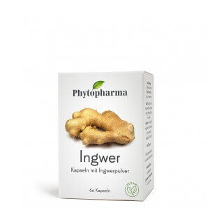 Phytopharma Ingwer Kapseln 365mg (60 Stk)