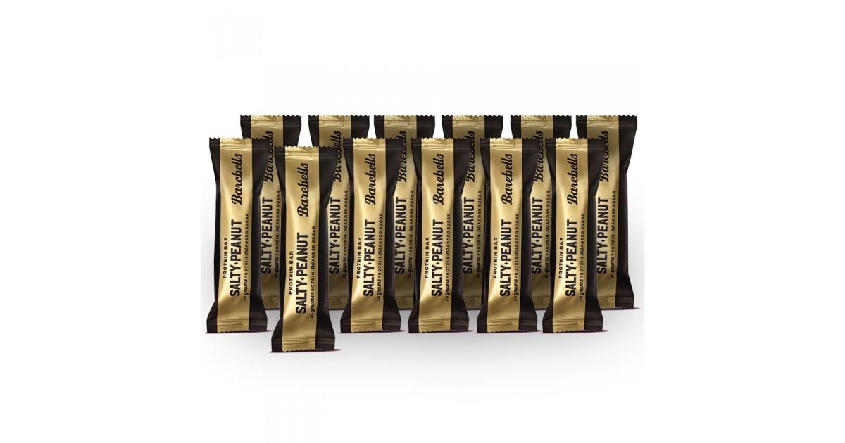 Barebells salty peanut protein bars (12 x 55g)