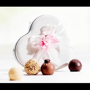 Herzblechdose Pralinés & Truffes - Aeschbach Chocolatier