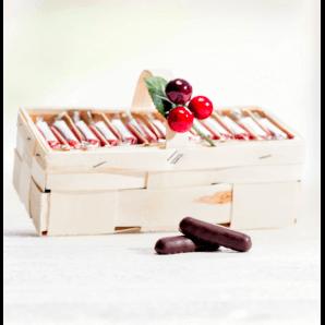 Spankörbli with cherry stems - Aeschbach Chocolatier (250g)