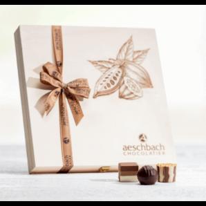 Holzschatulle Pralinés & Truffes - Aeschbach Chocolatier (16er)