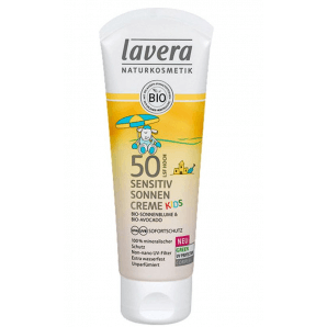 Lavera Sensitiv sunscreen Kids SPF 50 Tube (75 ml)
