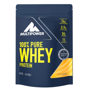 Multipower 100% Pure Whey Protein Banana Mango Bag (450g)