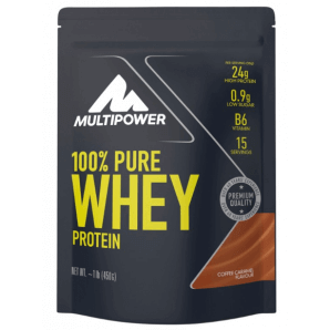 Multipower 100% Pure Whey Protein Coffee Caramel Beutel (450g)